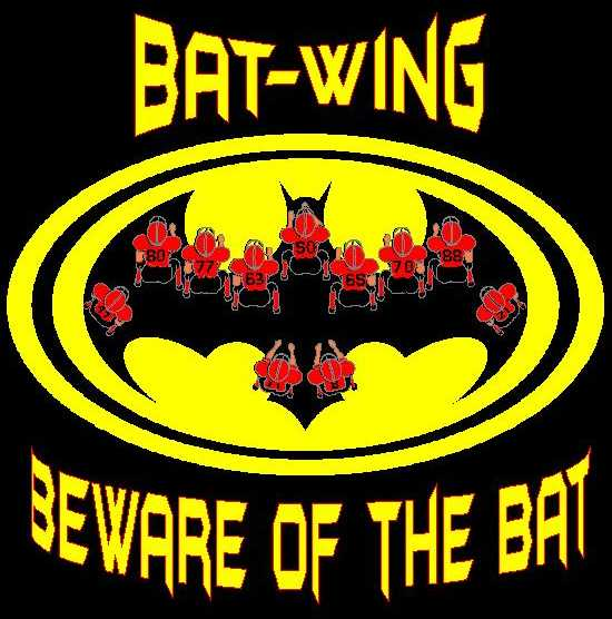 Double wing on bat signal